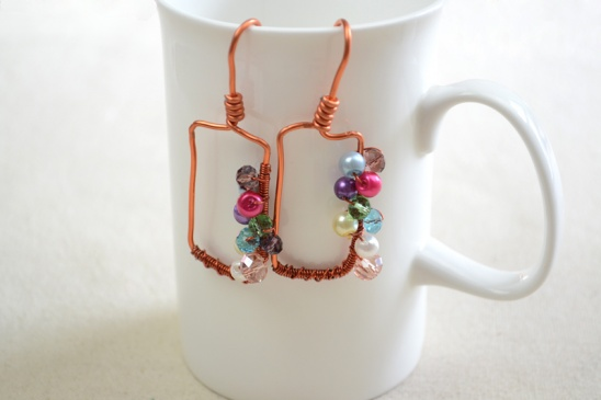 How To Make Wire Wred Earrings With Orted Colorful Beads By Viki Hoo Project Jewelry Kollabora