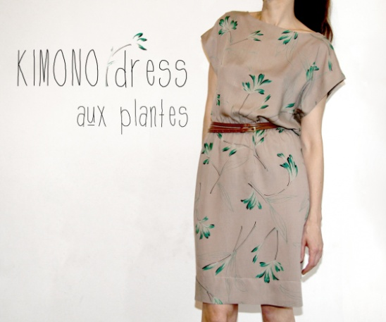 Kimono Dress With Plants By Jolies Bobines Project Sewing Magnificent Easy Dress Sewing Patterns