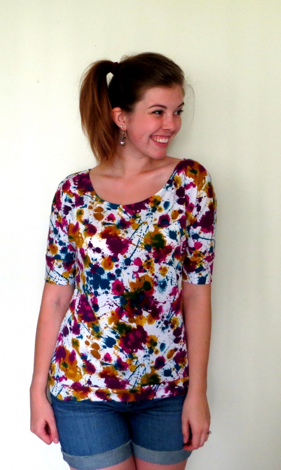 Paint Splatter Dolman Tee By Sally Thequirkypeach Project