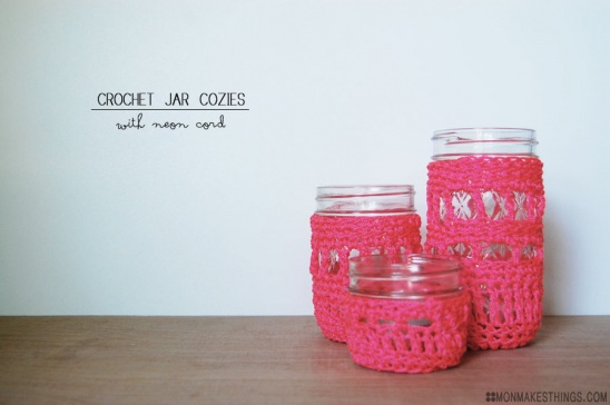 Neon Jar Cozies By Monica // Mon Makes Things | Project | Crochet | Home  Decor / Decorative | Coasters U0026 Tableware | Kollabora