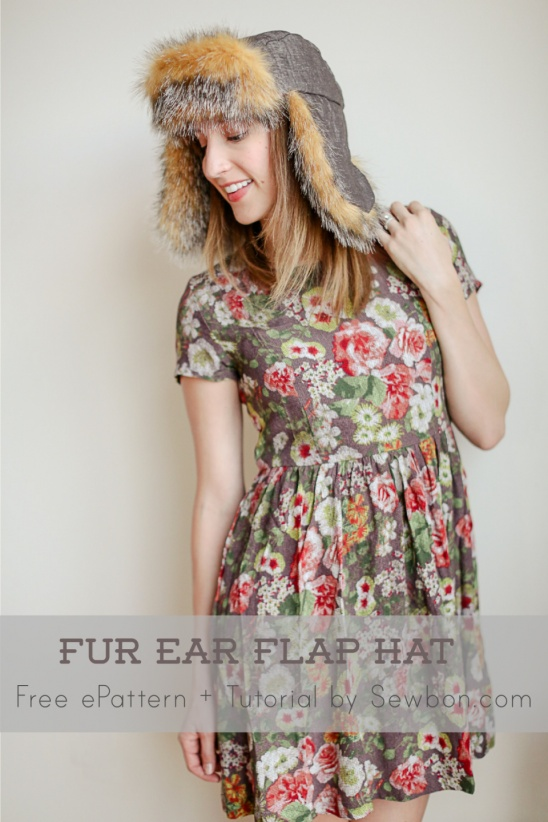 Free Pdf Pattern And Tutorial Faux Fur Ear Flap Hat By Erin