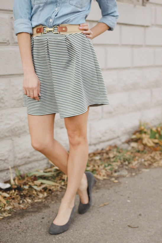 Striped Pleated Knit Skirt Tutorial by Erin || Sewbon | Project ...
