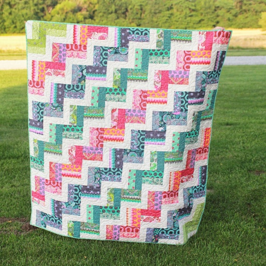 Tula Pink Rail Fence By Girls In The Garden Project Quilting