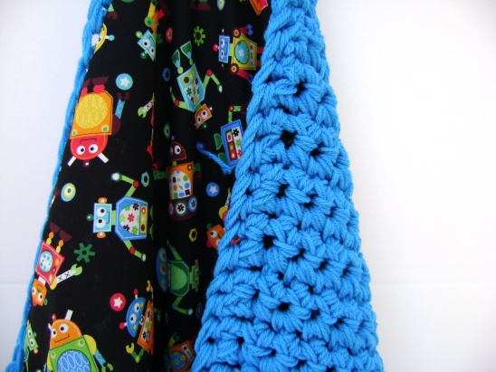 Crocheted Reversible Baby Blanket By Sheila Zachariae Project