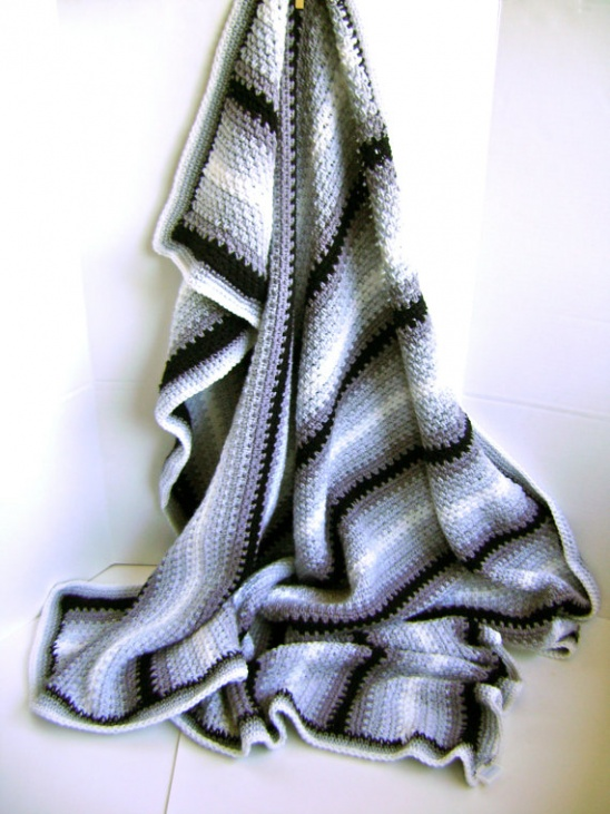 Pin Stripe Man Cave Blanket By Sheila Zachariae Project Crochet