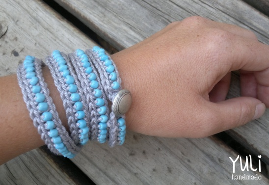 Beadcotton Wrap Around Crochet Bracelet By Yuli Project