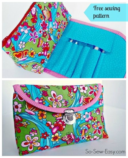 Cosmetics bag with fold over brush roll - video by So Sew Easy ...
