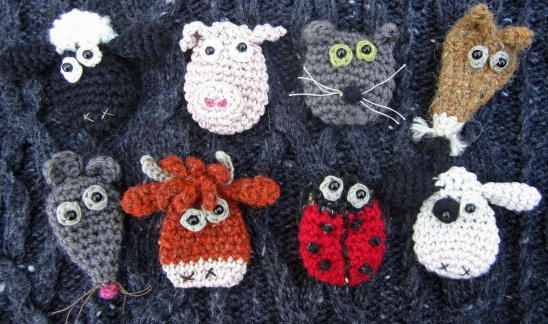More Silly Brooches By Sew Silly Lily Project Jewelry Crochet