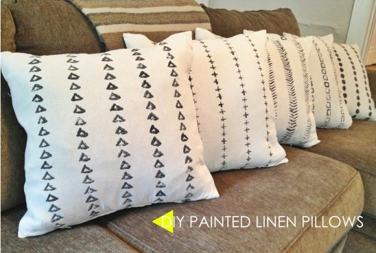 DIY Handpainted Linen Throw Pillows By Emily Hagedorn Project Amazing Hand Painted Decorative Pillows