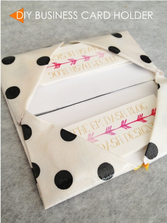 Super Quick Diy Vinyl Origami Business Card Holder By Emily