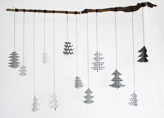3D Paper Christmas Tree Mobile by Sarah | Project | Papercraft ...