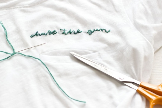 Diy embroidered t shirt by sarah project embroidery