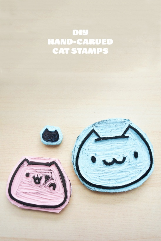 Diy hand carved cat stamps by becky helms project papercraft