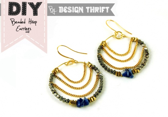 DIY: BEADED HOOP EARRINGS by Design Thrift | Project | Jewelry ...