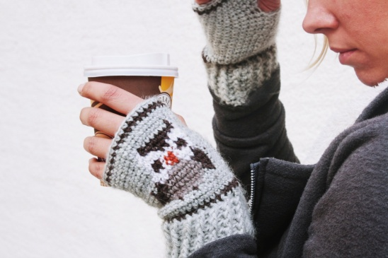 Owl Fair Isle Tapestry Crochet Mitts | Supply | Patterns | Kollabora