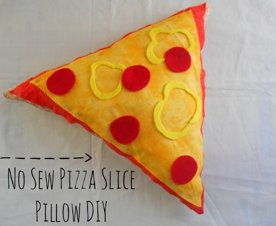 No Sew Pizza Slice Pillow DIY By Running With A Glue Gun Project Awesome No Sew Decorative Pillows