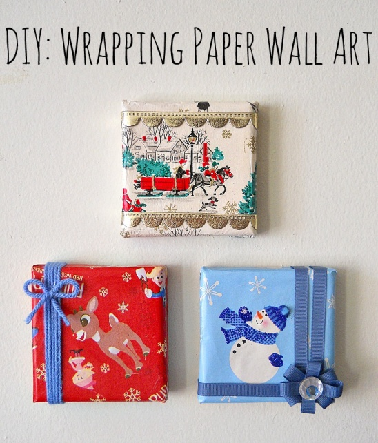 DIY Wrapping Paper Wall Art By Running With A Glue Gun | Project | Home  Decor | Papercraft / Decorative | Holiday | Kollabora