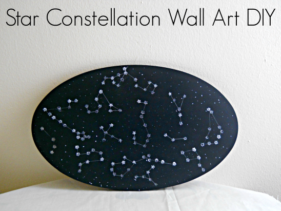 Star Constellation Wall Art DIY by Running With A Glue Gun   Project ...