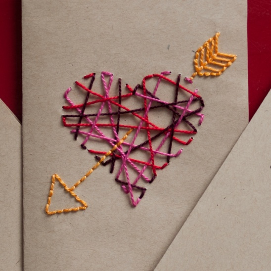 Embroidered Valentine S Day Cards By Lizzie Project Papercraft