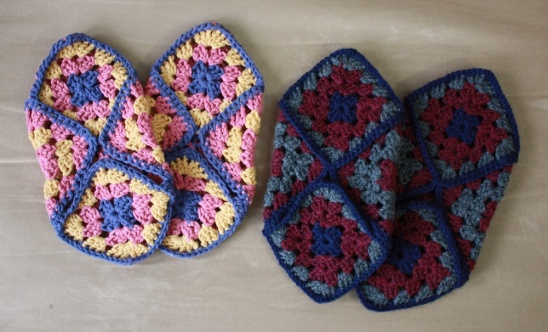 Crocheted granny square slippers by AllspiceAbounds ...