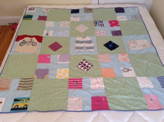 Memory Quilt From Baby Clothes By Em Lawn And Lace
