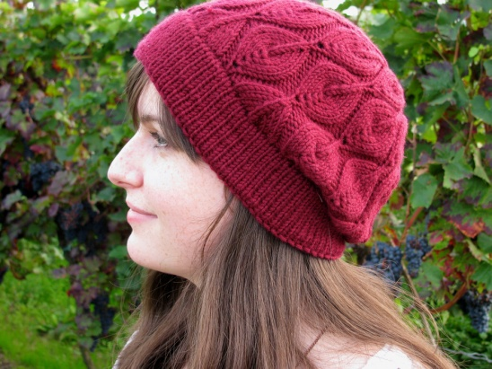 Dark Red Candle Flame Hat By Schnitterling Project Knitting