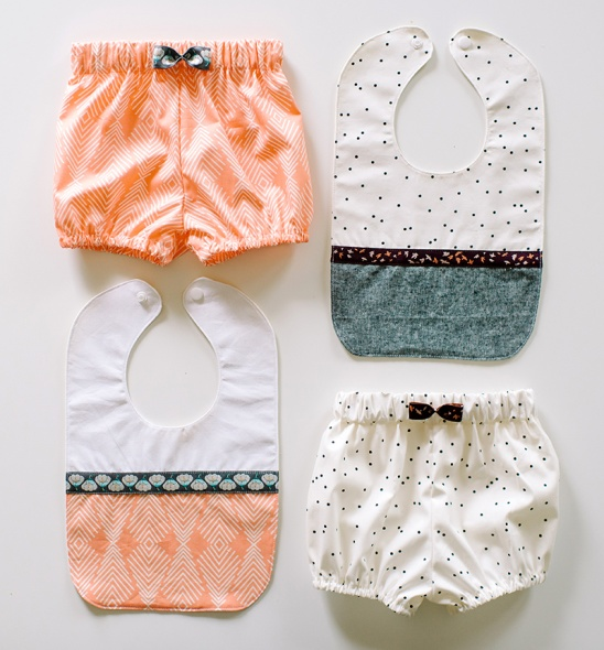 Bloomers + Bib Baby Set by Whitney Deal   Project   Sewing / Kids ...