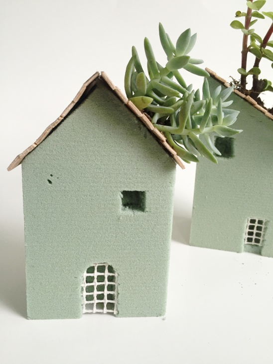 Foam Block House Planters By Createforless Project