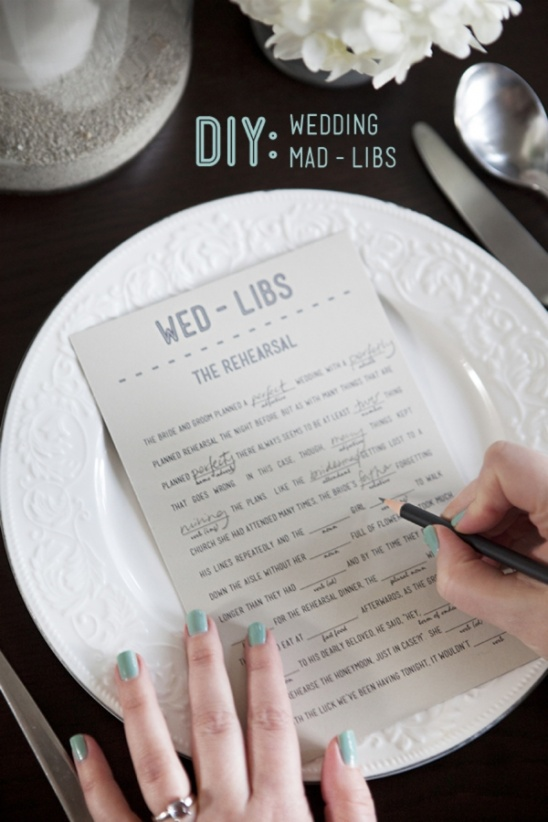 looking for a fun way to break the ice at your wedding or bridal shower have guests fill out these silly wedding mad llibs or wed libs they are free