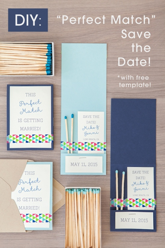 Diy perfect match save the date invitation by jen carreiro diy perfect match save the date invitation by jen carreiro project papercraft weddings kollabora junglespirit Gallery
