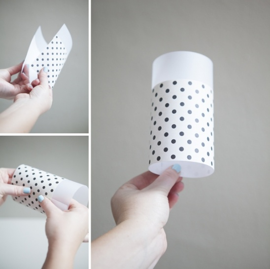 Paper vellum lanterns by jen carreiro project for How to make paper lamp step by step