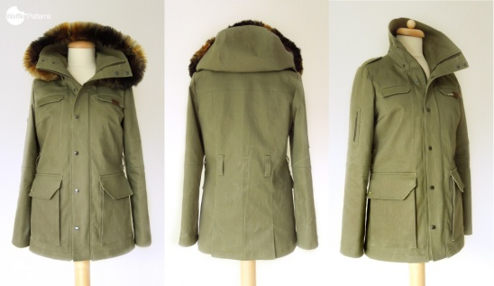 Safari Jacket With Detachable Hood By Yuki Waffle Patterns