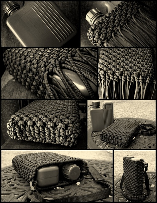 Decorative and useful knot work by david hopper for How to make a paracord bag