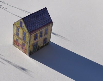 Template For A 3d Paper House By Vicki Smith Project