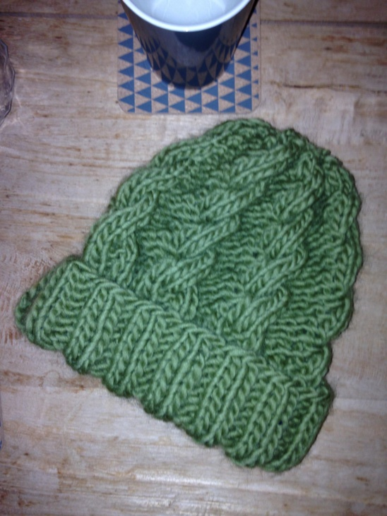 Chunky Cable Knit Hat By Mieke Holleman Project Knitting Hats