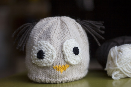 owl baby hat by i love green grass project knitting kids