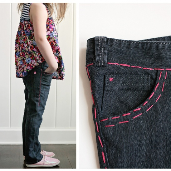 Skinny Jeans with Hand Topstitching by CharmingDoodle | Project ...