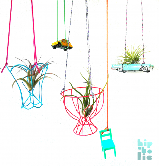 Vintage lampshade hanging planters by hipaholic project home funky hanging planters made from vintage wire lampshades frames nice to bring spring into your home keyboard keysfo Gallery