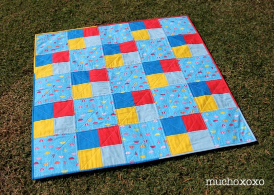 april showers color block quilt by mucho xoxo | Project | Quilting ... : color block quilt pattern - Adamdwight.com