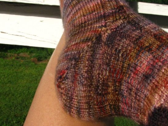 Ribbed Socks for Impatient Knitters (free pattern) by Keya ...