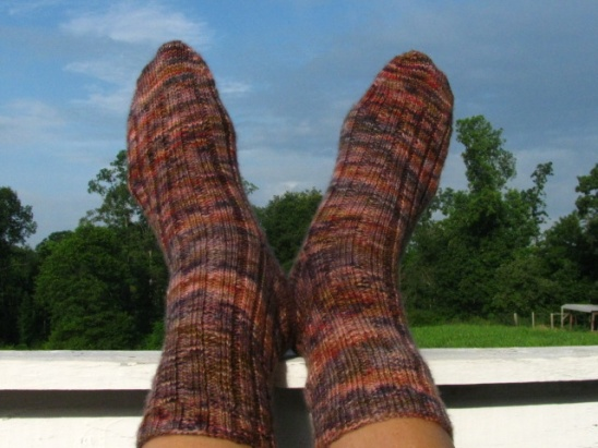 Ribbed Socks for Impatient Knitters (free pattern) by Keya | Project ...