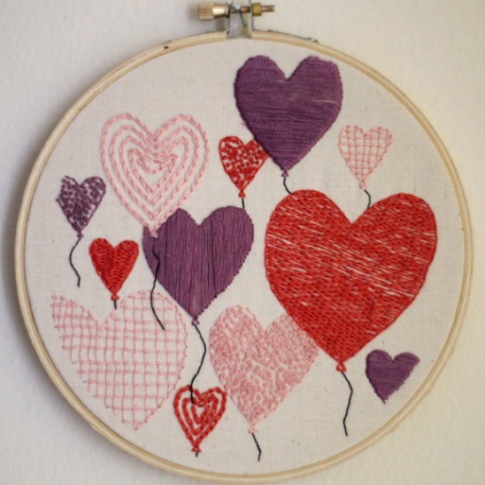 Balloons Roses Valentine S Day Embroidery Pattern Supply