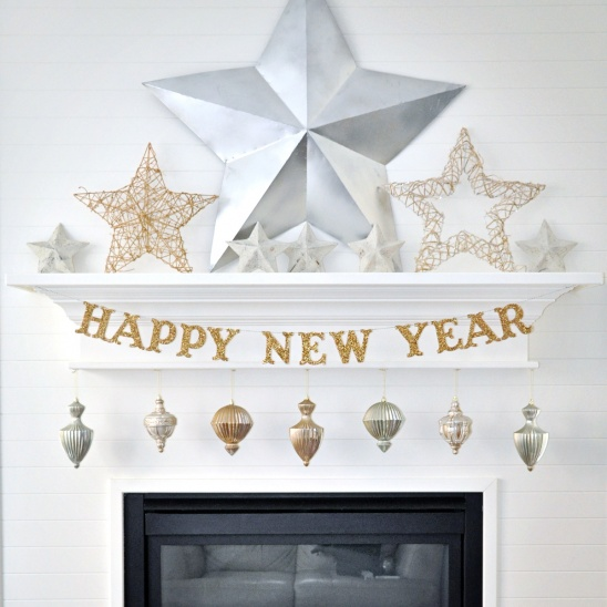 diy new years eve glitter banner by holly jones project