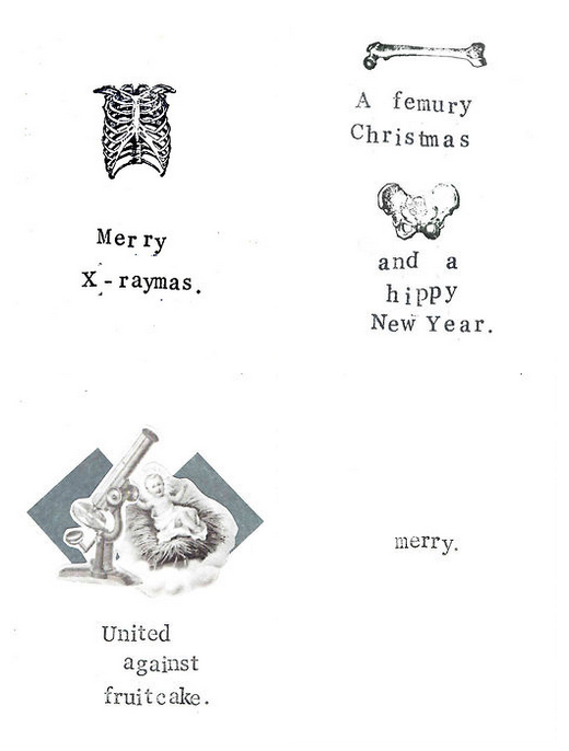Anatomy & Science Christmas Cards by Carrie Martin | Project
