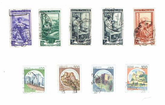 graphic about Printable Postage titled Printable Typical Italy Postage Stamps Shipping and delivery Paper
