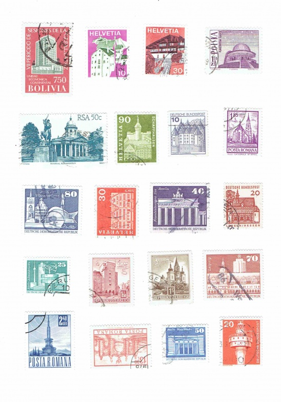 picture regarding Printable Postage identified as Printable Traditional Architecture Postage Stamps as a result of Carrie
