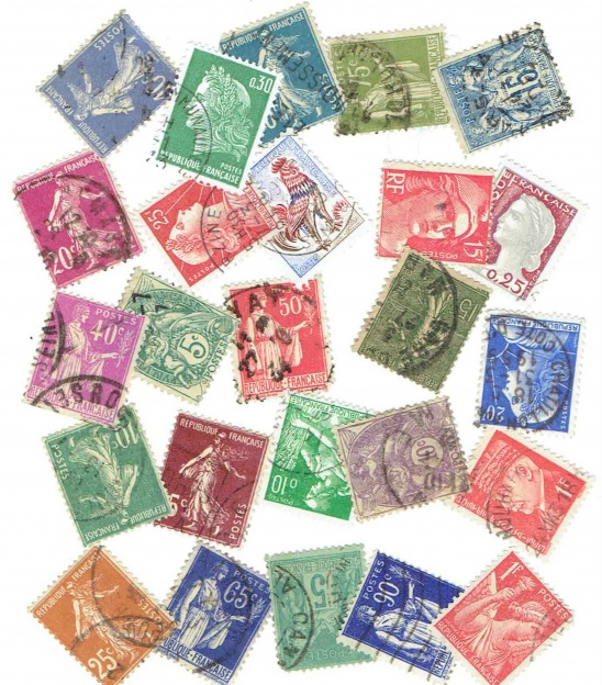 graphic relating to Stamps Printable referred to as Printable French Postage Stamps Collage Delivery Designs