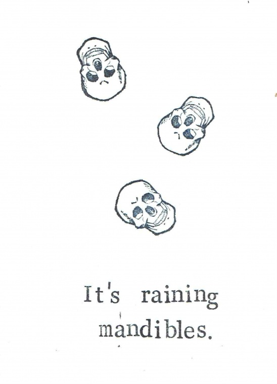 photo relating to Printable Halloween Card named Printable Its Raining Mandibles Halloween Card Shipping and delivery