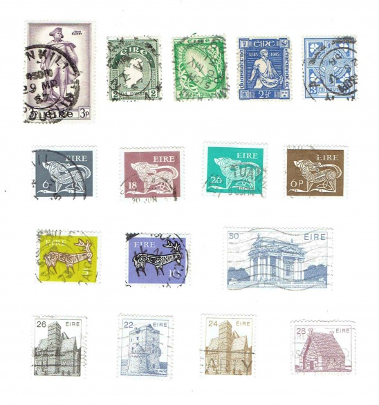 photo regarding Stamps Printable titled Printable Typical Eire Irish Postage Stamps Shipping