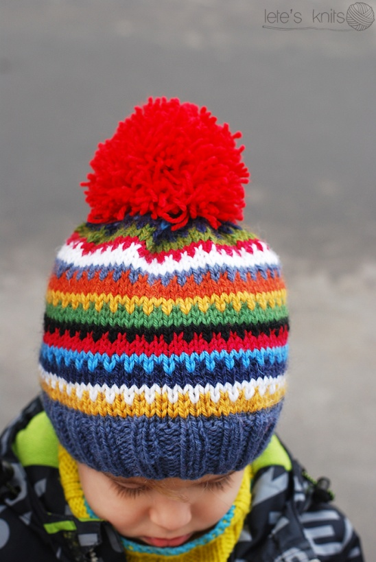 49605529c0c Scrappy Ski Hat – a free pattern. from Lete s Knits Follow